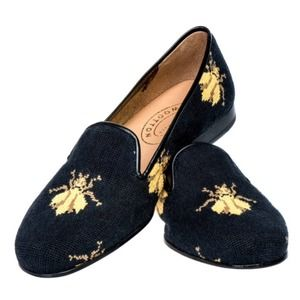 Stubs & Wootton Bee Embroidered Needlepoint Flats